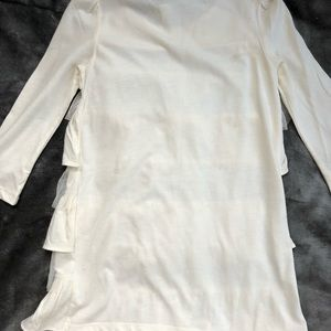 GAP Shirts & Tops - Baby Gap ruffled cream colored blouse 3T